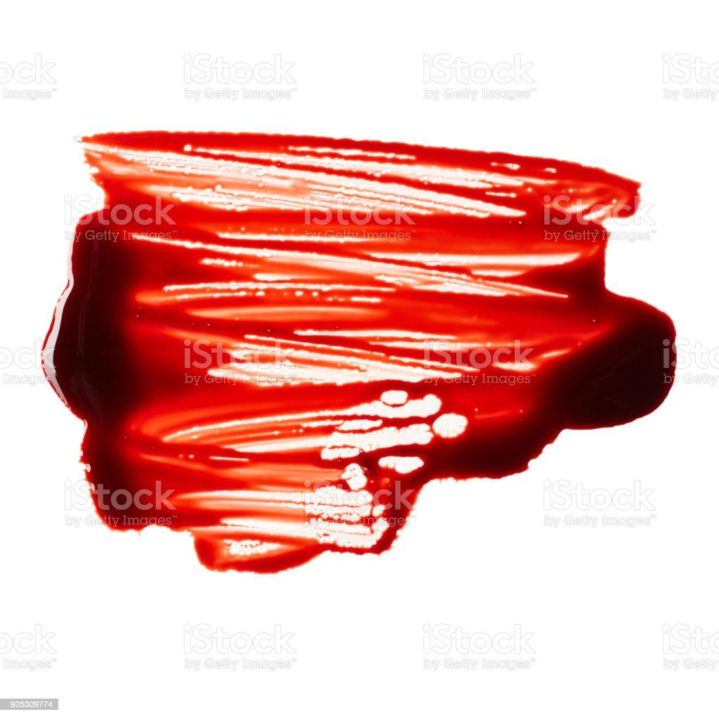 Bloodstain stock photo