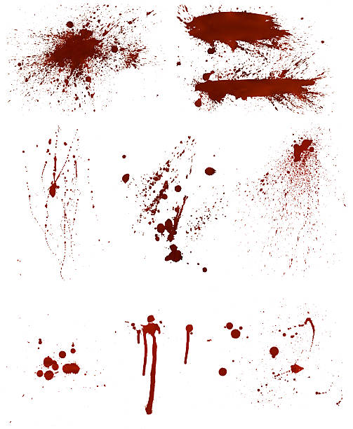 Bloodstain Set stock photo