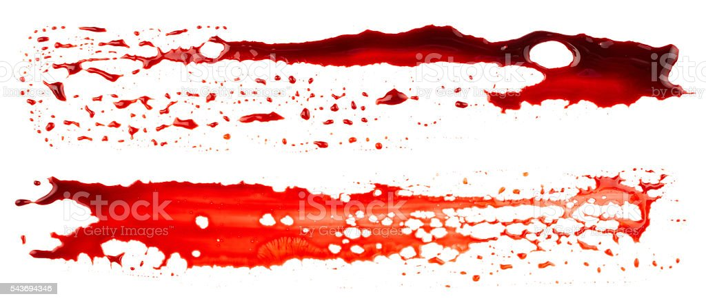 Bloodstains stock photo