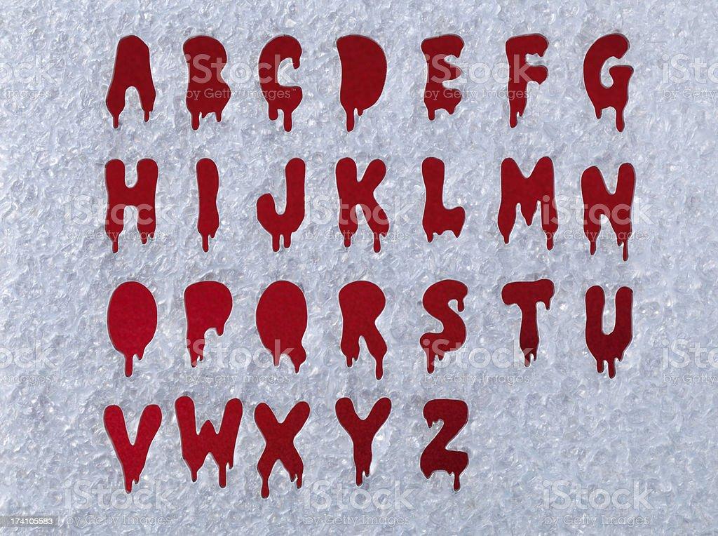 Bloody Alphabet stock photo