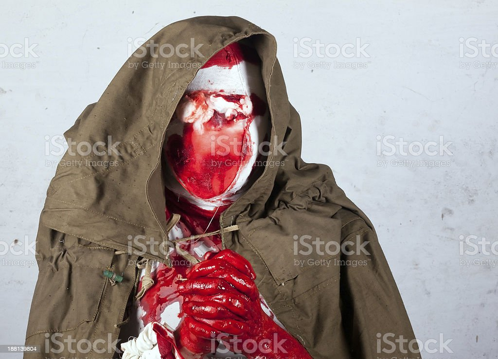 bloody blind zombies stock photo
