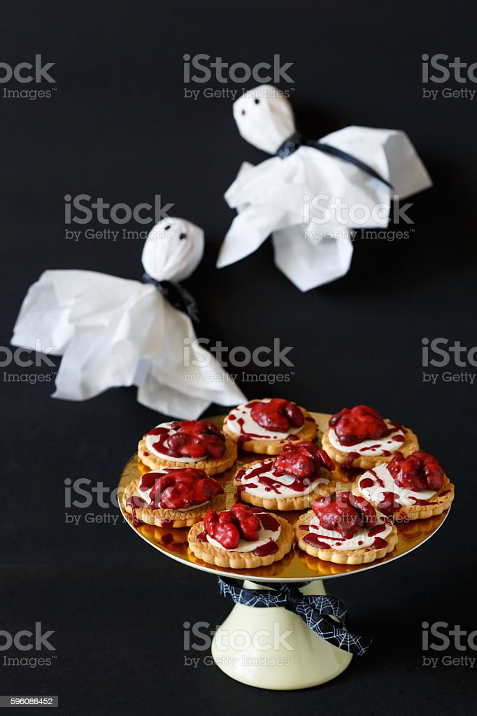 Bloody brain biscuits. royalty-free stock photo