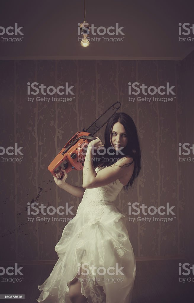 Bloody bride royalty-free stock photo