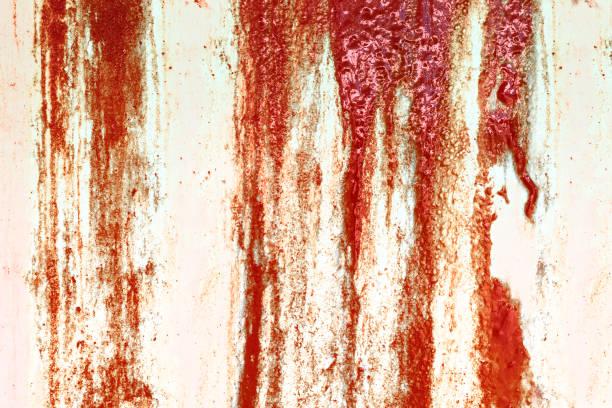Blutige Betonwand für Halloween-Hintergrund – Foto