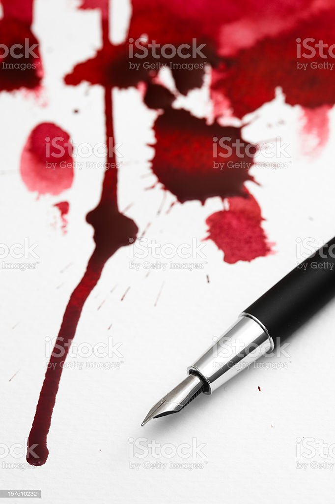 Bloody contract royalty-free stock photo