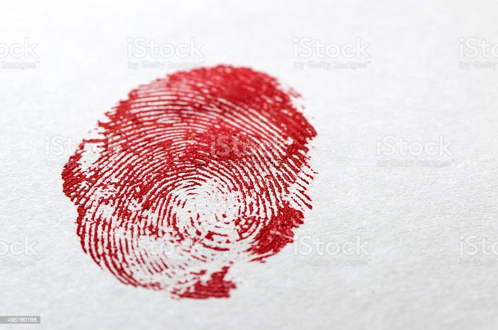 Bloody Fingerprint stock photo