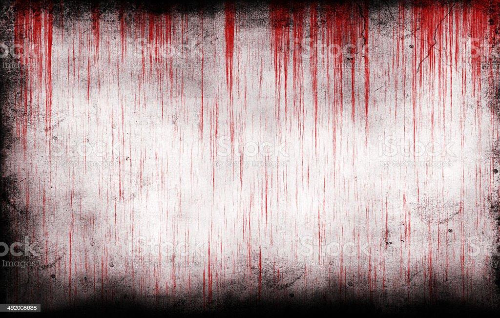 bloody grungy wall stock photo