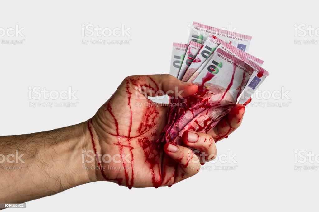 Bloody hand concept stock photo