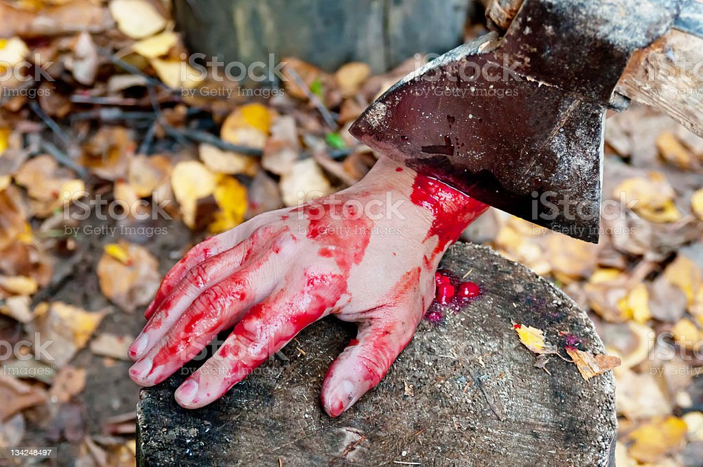 Bloody hand – Foto