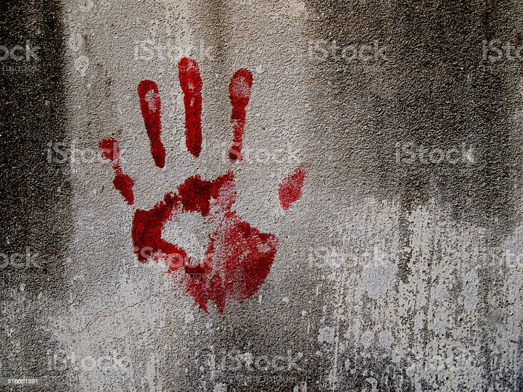 Bloody hand stock photo