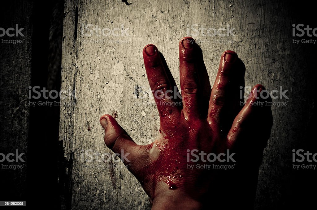 Bloody hand – Foto