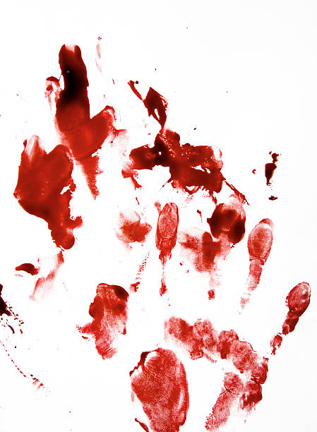 Bloody Hand Print stock photo