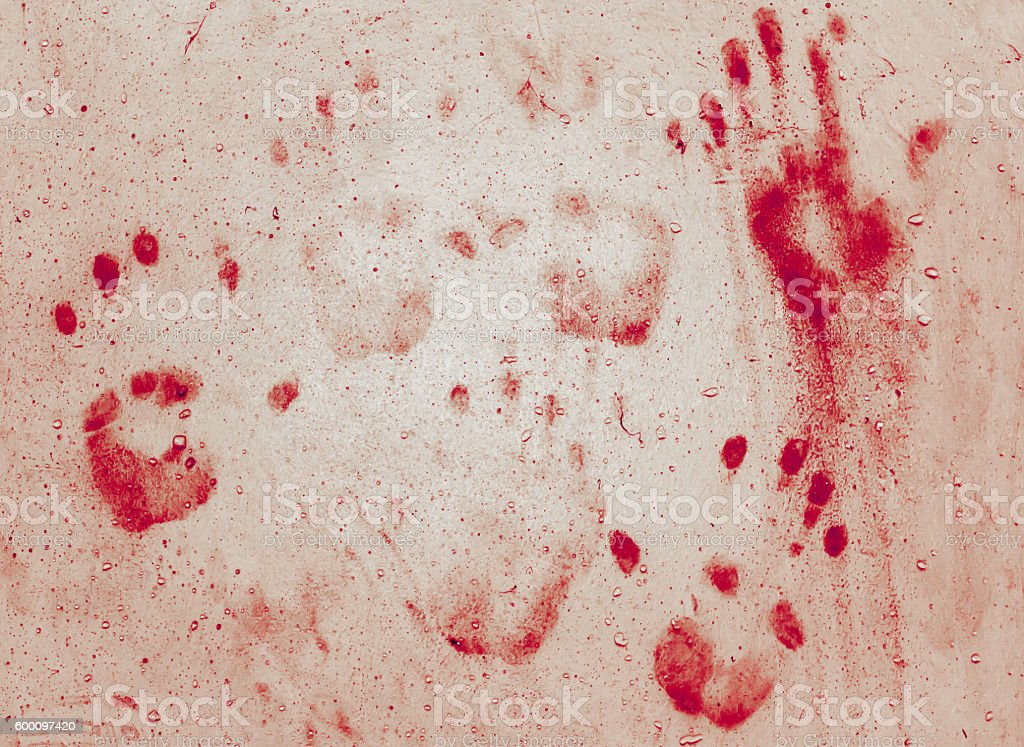 Bloody hands stock photo