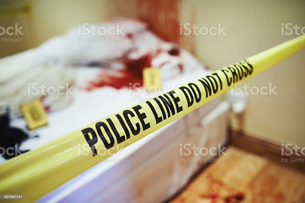 Bloody investigations stock photo