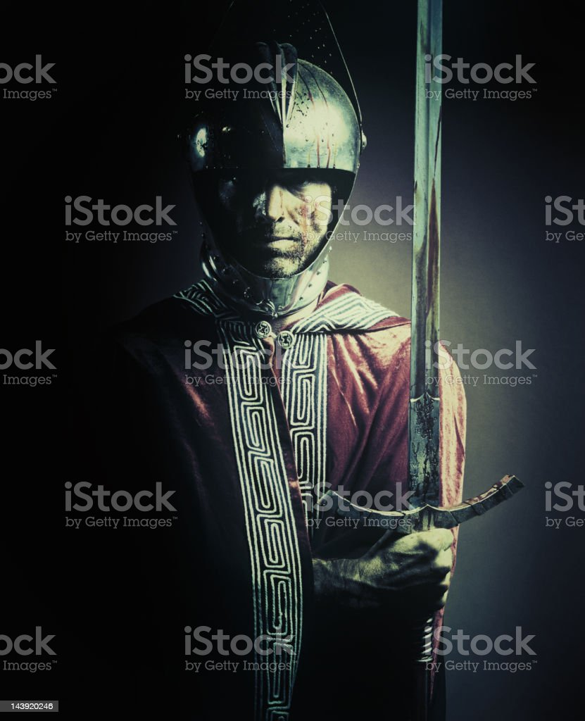 bloody knight royalty-free stock photo