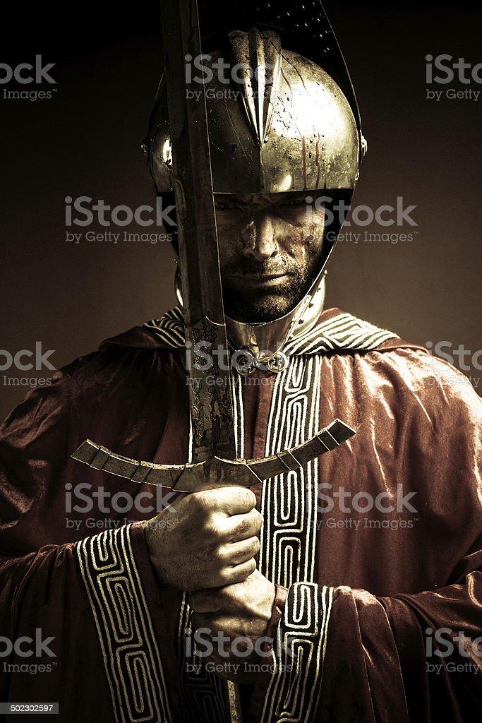 bloody knight stock photo