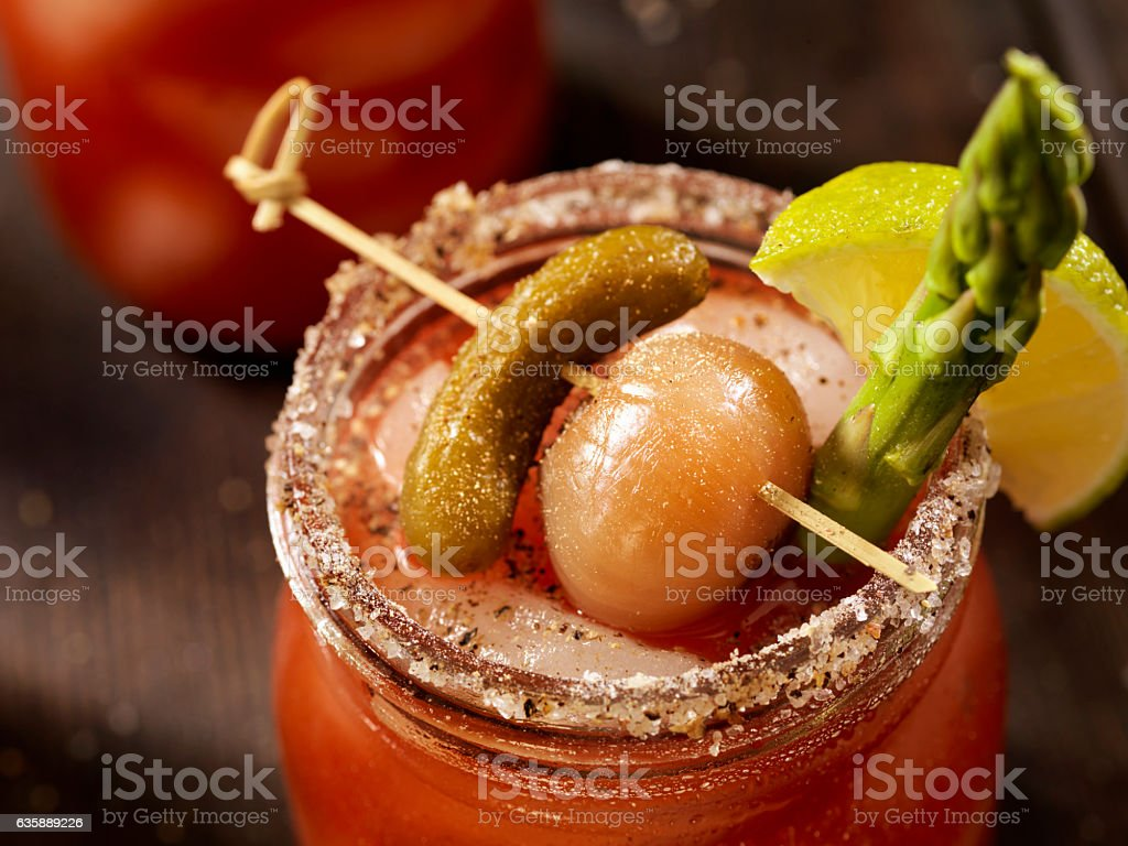 Bloody Mary or Caesar Cocktail stock photo