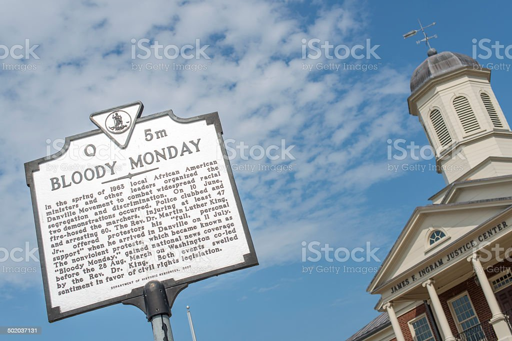Bloody Monday stock photo
