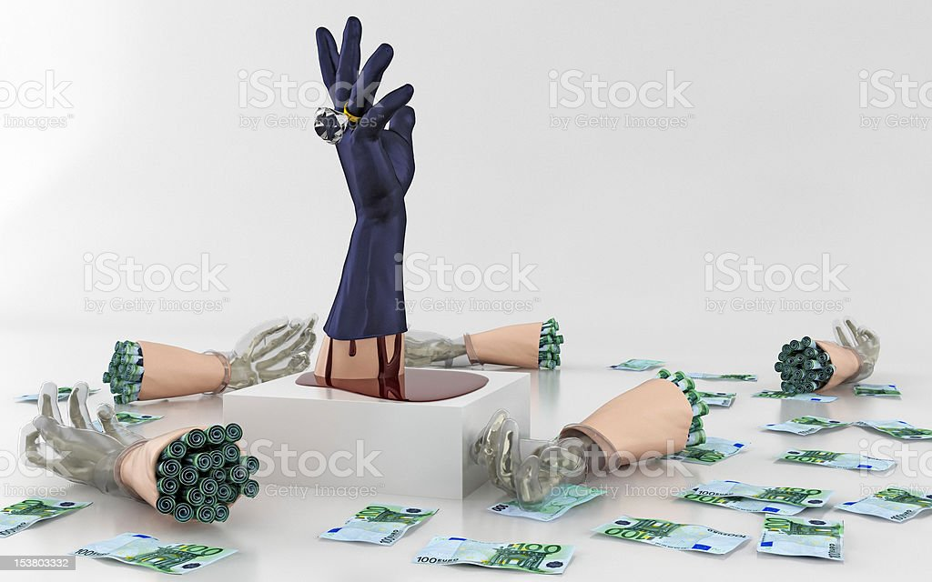 Bloody Money stock photo