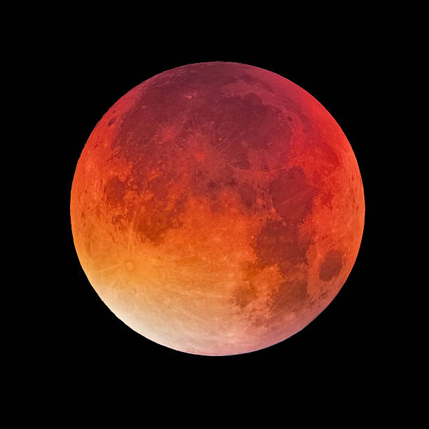 Bloody moon stock photo