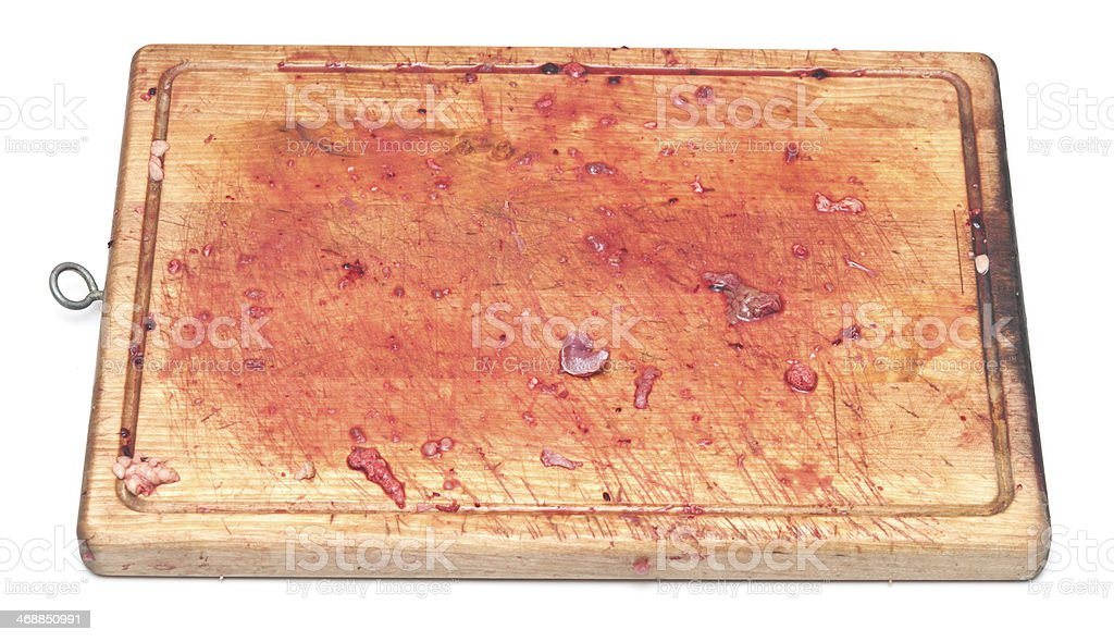 bloody on the cutting board bloody on the cutting board Blood Stock Photo