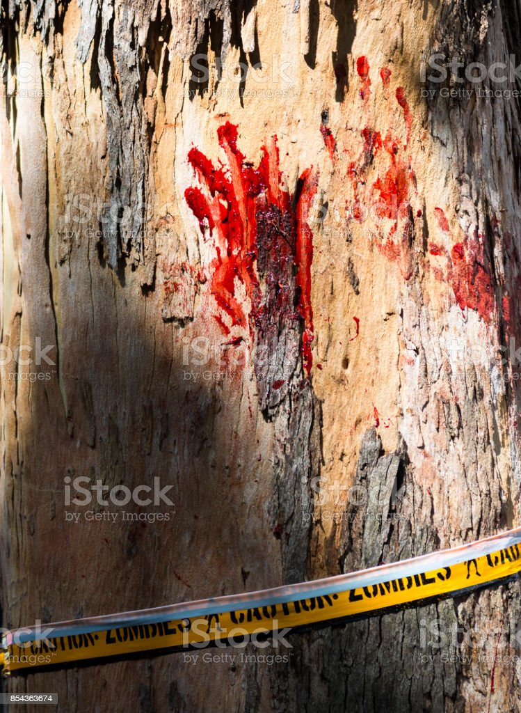 Bloody palm stock photo