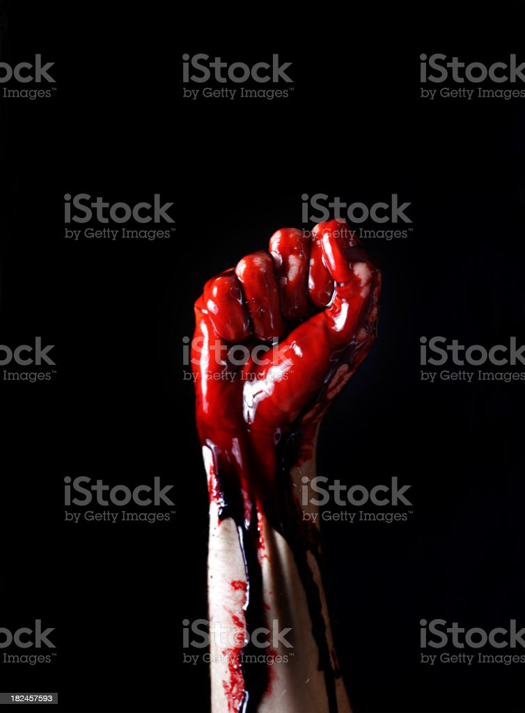 Bloody Power royalty-free stock photo