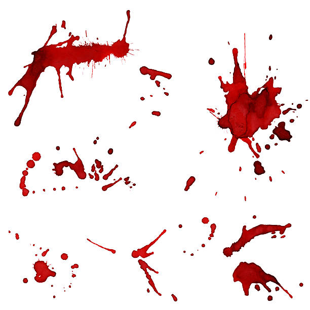 Bloody red blots​​​ foto