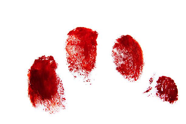 bloody red finger prints - human finger stock pictures, royalty-free photos & images