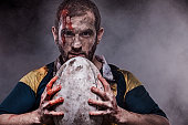 A bloody Rugby Player