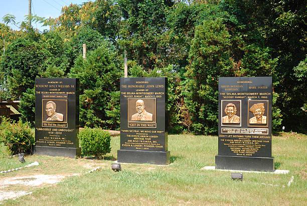 bloody sunday memorial, selma, alabama - martin luther king jr day fotografías e imágenes de stock
