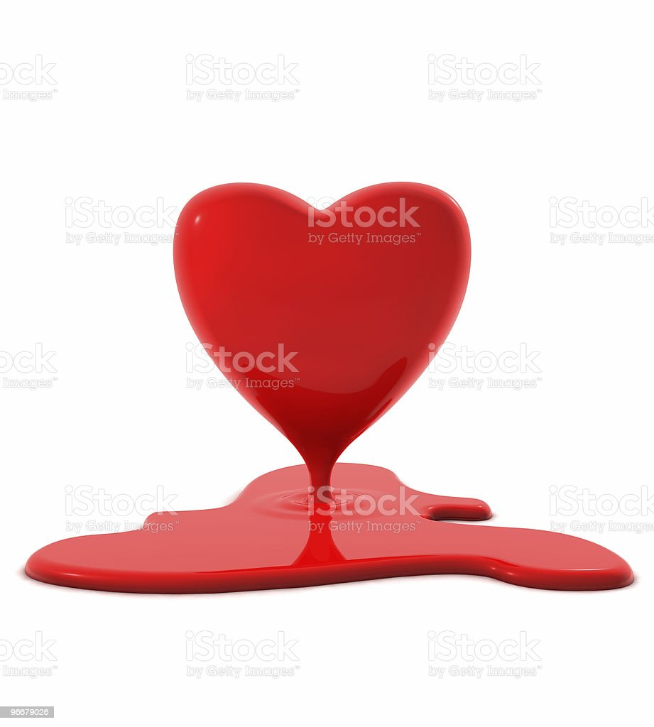 Bloody Valentine Red Heart stock photo