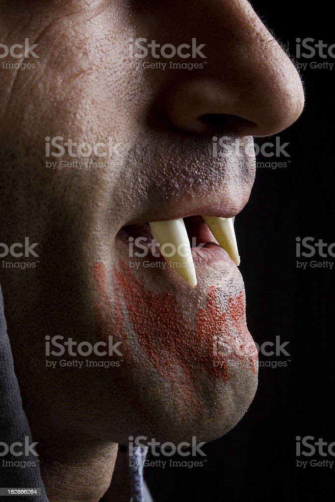 """Bloody Vampire """"Vampire male with bloody mouth,Studio ShotSince the file was shot before sept 2009 old MR has been uploaded"""" Adult Stock Photo"""