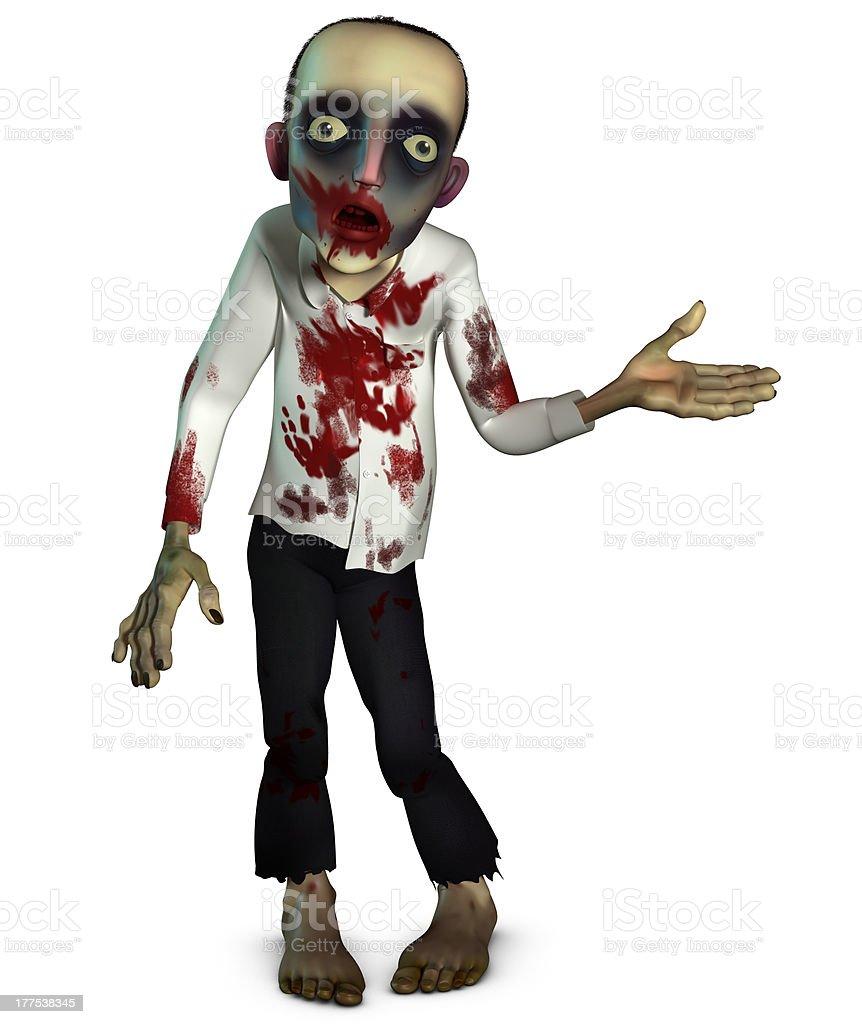 bloody zombie royalty-free stock photo