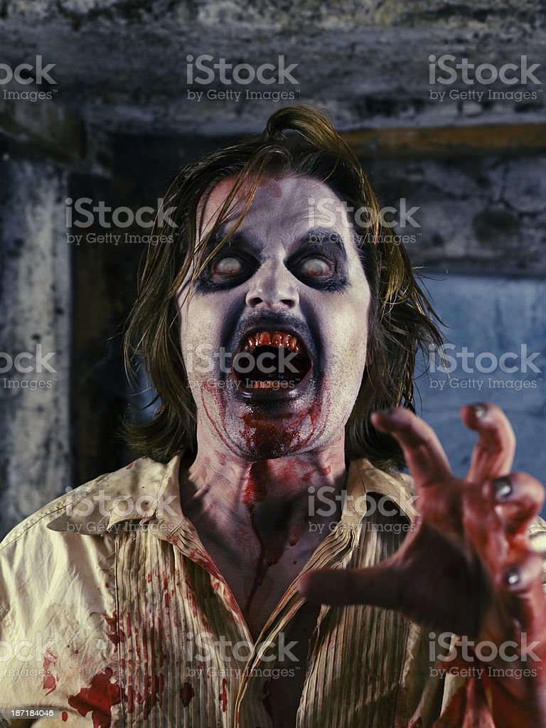 Bloody zombie royalty-free stock photo