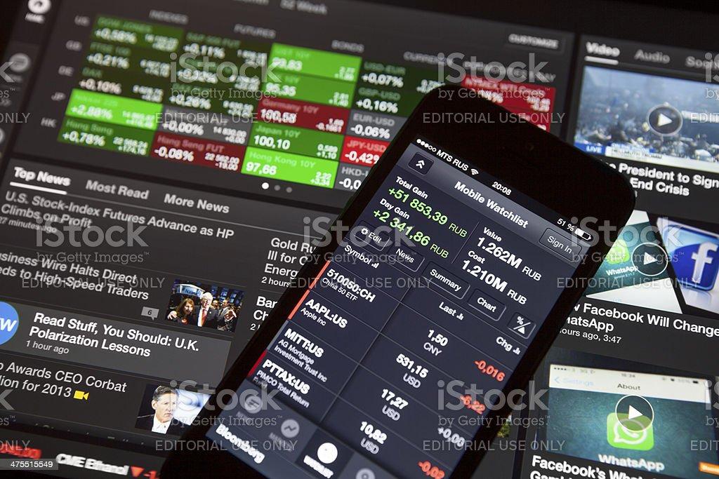 Bloomberg app stock photo
