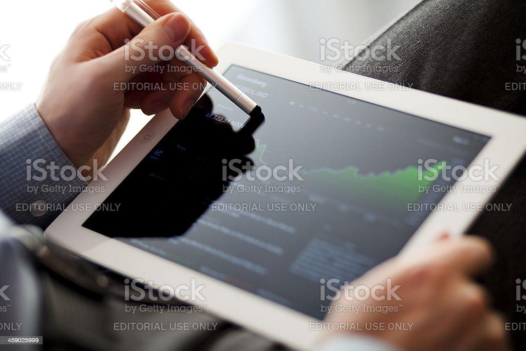 Bloomberg on iPad royalty-free stock photo