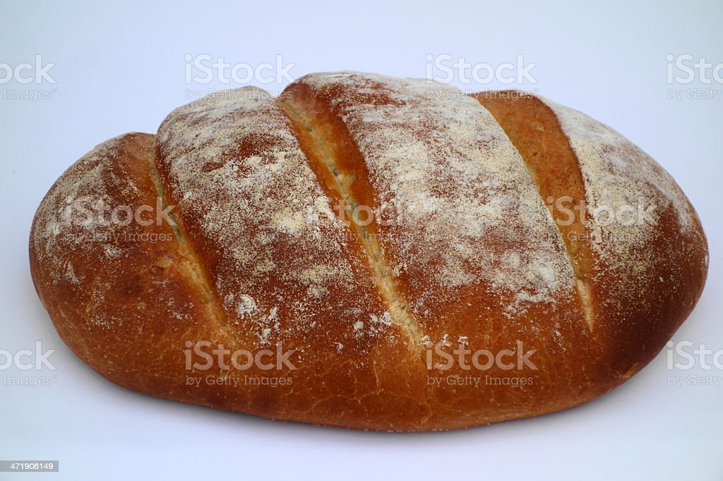 bloomer, a crusty loaf of lovely homemade bread stock photo