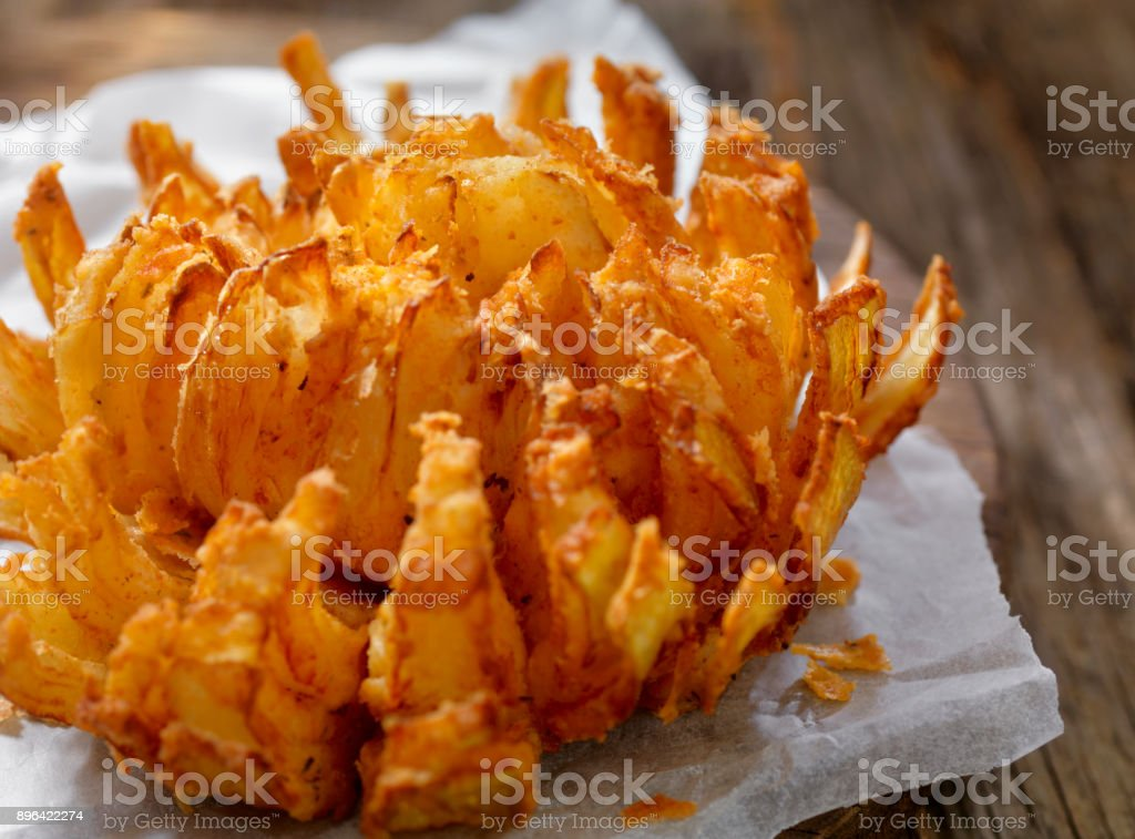 Blooming Onion stock photo