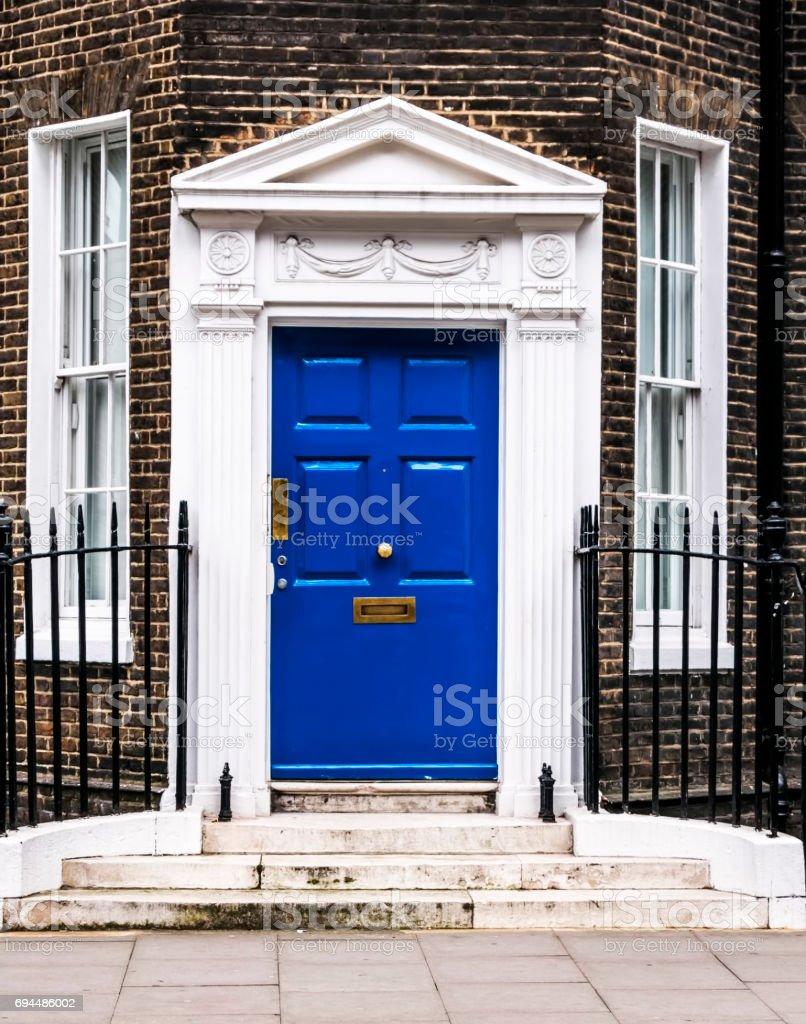 Bloomsbury door amd windows in London. England stock photo