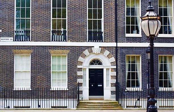Bloomsbury Door Bedford Square stock photo