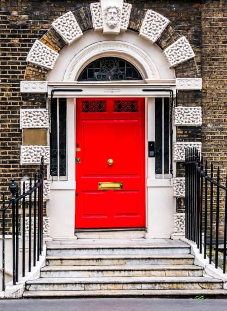 Bloomsbury door in London. England stock photo