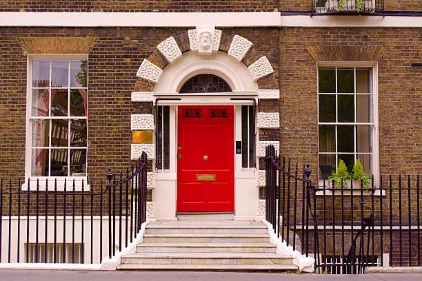 Bloomsbury Door stock photo