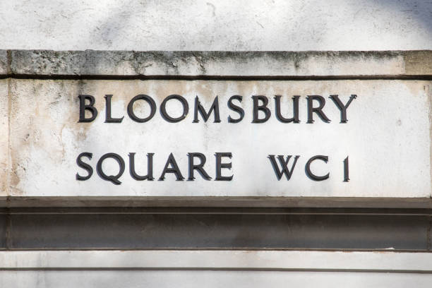 Bloomsbury Square in London stock photo