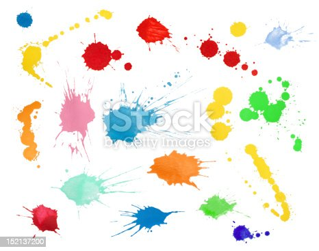Colorful blots collection