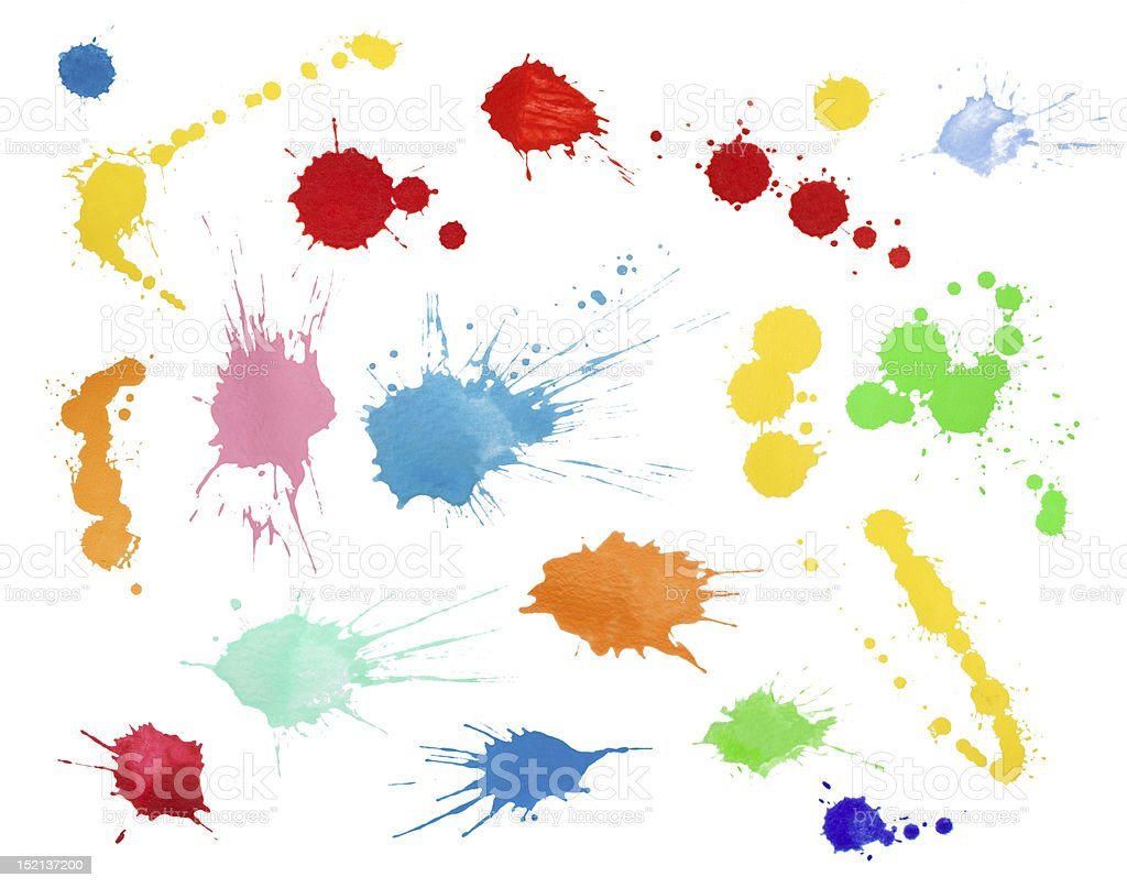Blots collection stock photo