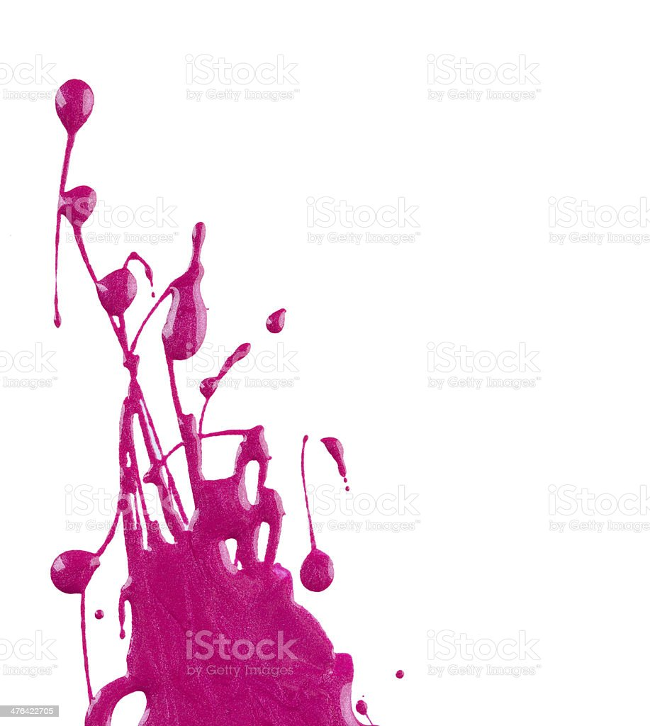 Blots of pink nail polish royalty-free stock photo