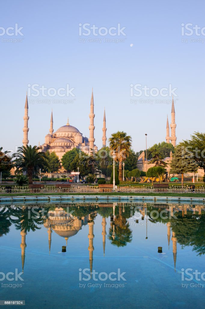 Bloue Mosque at Dawn in Istanbul stock photo