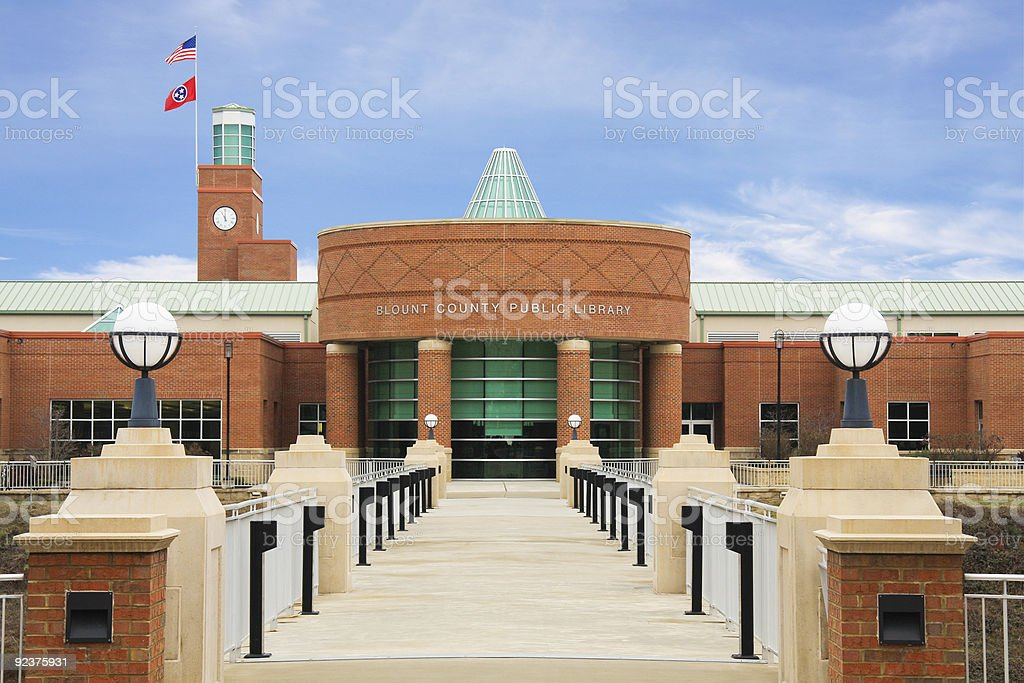 Blount County Public Library royalty-free stock photo