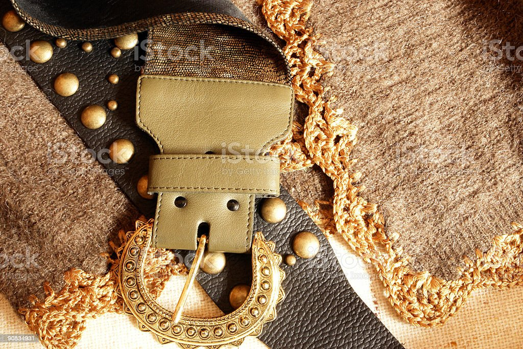 Blouse and belts (2) royalty-free stock photo